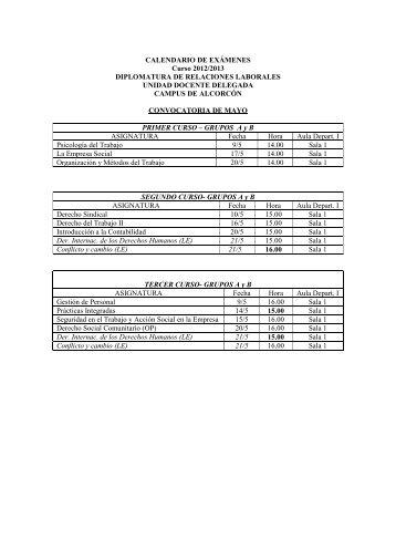 examenes de la diplomatura en relaciones laborales - FCJS