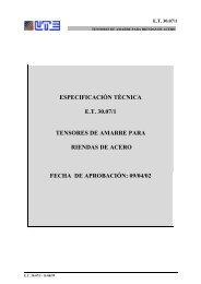 ESPECIFICACIÓN TÉCNICA E.T. 30.07/1 TENSORES DE AMARRE ...