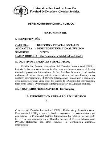 Derecho Internacional Público - Facultad de Derecho