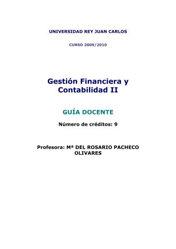 Gestión Financiera y Contabilidad II - FCJS - Universidad Rey Juan ...