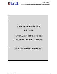ESPECIFICACIÓN TÉCNICA E.T. 75.07/1 MATERIALES Y ...
