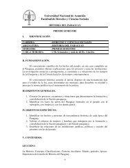 Historia del Paraguay - Facultad de Derecho