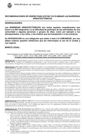 Rampas Discapacitados - Gobierno Municipal del Partido de Pinamar