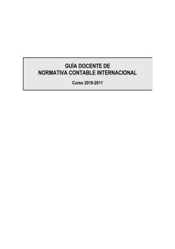 guía docente de normativa contable internacional - FCJS