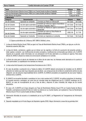 Cartilla Informativa cuenta CTS - Banco Falabella