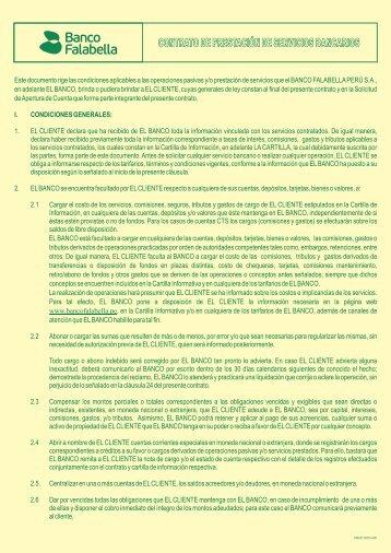 Contrato Cuenta de Ahorro - Banco Falabella