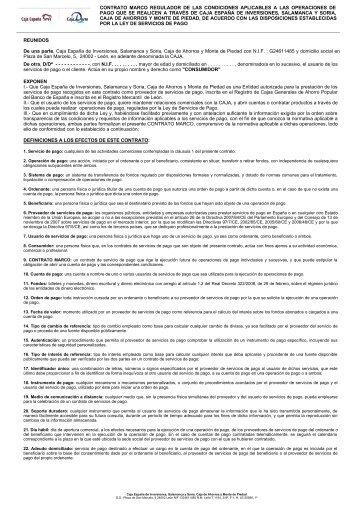 contrato marco regulador de las condiciones aplicables a las ...