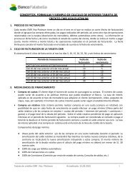 Tarjeta CMR Visa Platinum - Banco Falabella