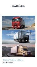 Daimler - Daimler Trucks at a Glance (2008 Edition)