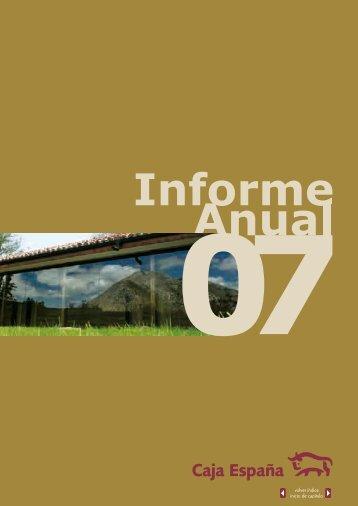 Informe y cuentas anuales 2007 - Caja España-Duero