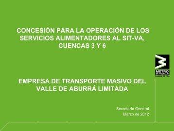 concesión para la operación de los servicios alimentadores ... - Metro