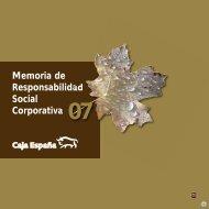 Memoria de Responsabilidad Social Corporativa 2007