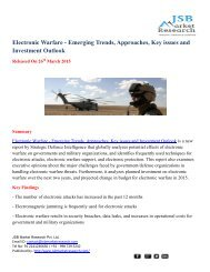 JSB Market Research: Electronic Warfare - Emerging Trends, Approaches, Key issues and Investment Outlook