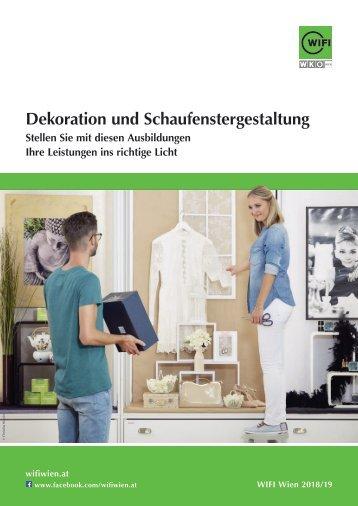 Dekoration und Schaufenstergestaltung - Ausbildungen im WIFI Wien