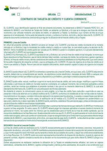 Contrato Tarjeta CMR Visa Oro Banco Falabella