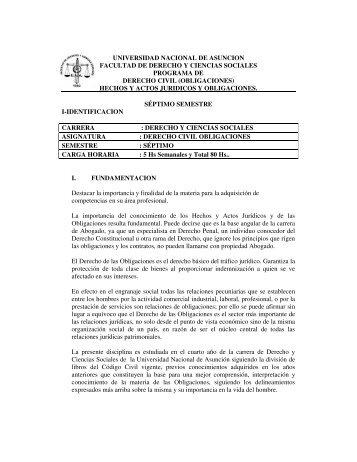 obligaciones - Facultad de Derecho