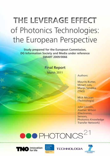 of Photonics Technologies: the European Perspective The Leverage Effect