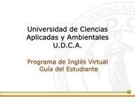 Universidad de Ciencias Aplicadas y Ambientales ... - moodle UDCA