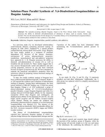 Solution-Phase Parallel Synthesis of N,6 ... - Puzzle Piece!