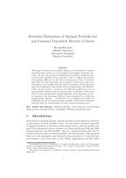 Statistical Estimation of Optimal Portfolios for non-Gaussian ...
