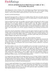 fitch affirms banco provincial's idr at 'b+'; outlook ... - Fitch Venezuela