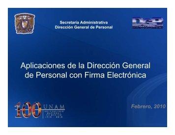 Aplicaciones de la Dirección General de Personal con Firma ...