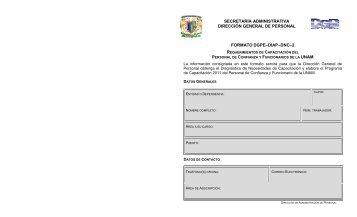 requerimientos del trabajador con base en el catálogo de actos ...