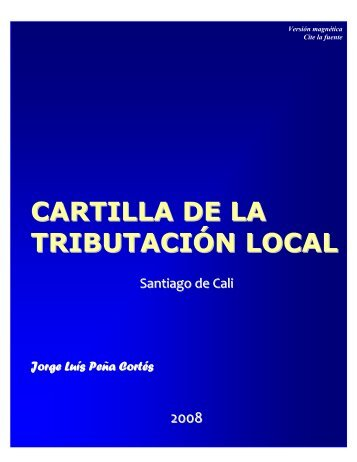 cartilla de la tributación local - Grupo Contable Asesores SAS