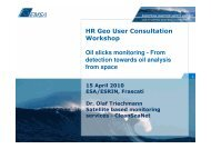 Complementing the EU earth observation based monitoring system ...