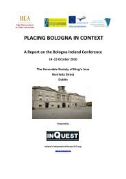 Placing Bologna in Context 2010 - EURIreland.ie