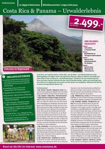 Costa Rica & Panama – Urwalderlebnis - Avastama