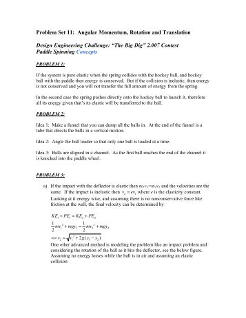 Problem Set 11: Angular Momentum, Rotation and Translation ...