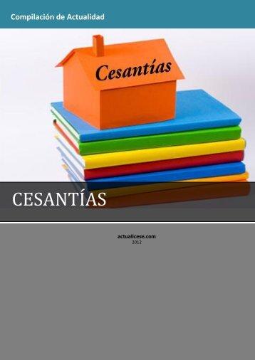 CESANTÍAS - Actualicese