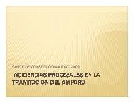 CORTE DE CONSTITUCIONALIDAD 2009
