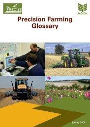 Precision Farming Glossary - HGCA