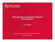 The spectre of spectral induced polarization? - in Bonn