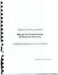 Recursos Humanos - Corte de Constitucionalidad