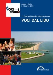 VOCI DAL LIDO 2015 - Program Book