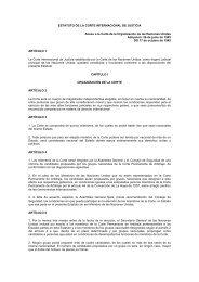 ESTATUTO DE LA CORTE INTERNACIONAL DE JUSTICIA Anexo a ...