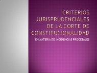 Criterios jurisprudenciales de la corte de constitucionalidad