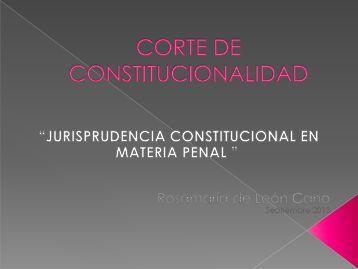 para abrir Jurisprudencia Constitucional en Materia Penal por ...