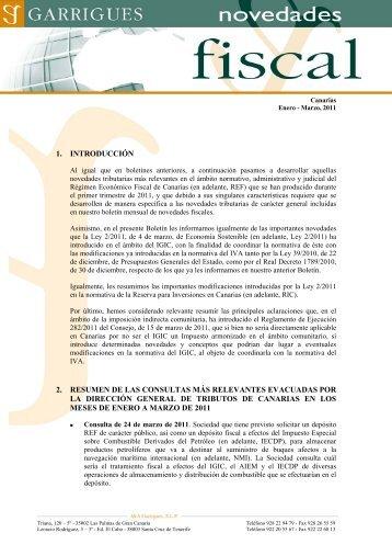 1. introducción 2. resumen de las consultas más ... - Garrigues