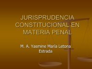 Jurisprudencia Constitucional en Materia Penal - Corte de ...