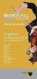 Angebote der Musikschule [pdf, 6,4 MB - Dortmund.de