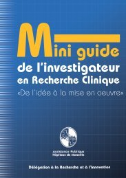 Mini guide - CHU Marseille