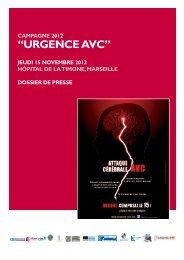 Campagne 2012 Â« Urgence AVC - CHU Marseille