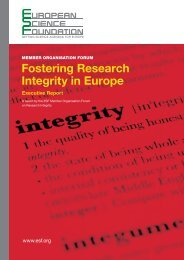 Fostering Research Integrity in Europe - European Science ...