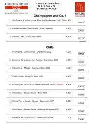 I nternationales W einforum 24. und 25.10.2009 ... - Chile Wein Contor