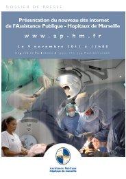 Présentation du site internet de l'AP-HM - CHU Marseille