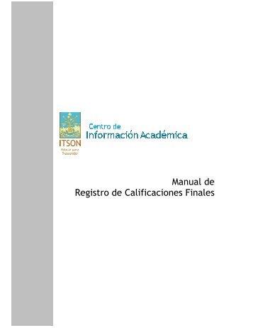 Manual de Registro de Calificaciones Finales